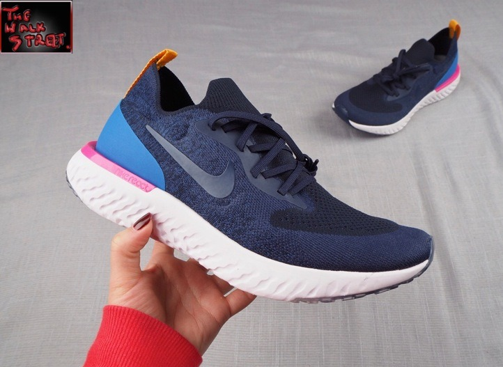 c52df931f0a4 Tenis Nike Epic React Flyknit Azul Hombre -   2