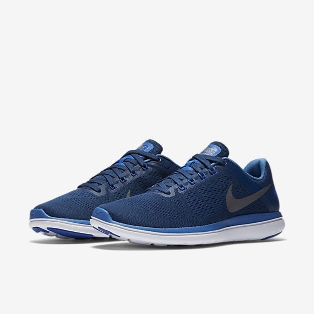 Tenis Nike Flex 2016 Rn Azul Caballero -   1 a81cc2412aa65
