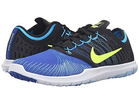 36e3f9af02159 Tenis Nike Flex Adapt Tr Negro Azul -   1