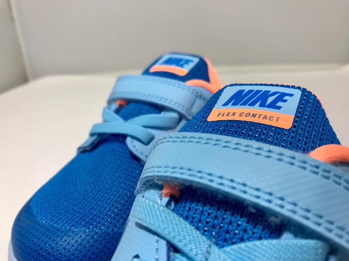 tenis nike flex contact 2 para niño color azul 14 cm nuevos. Cargando zoom. 3266a8b456ebe