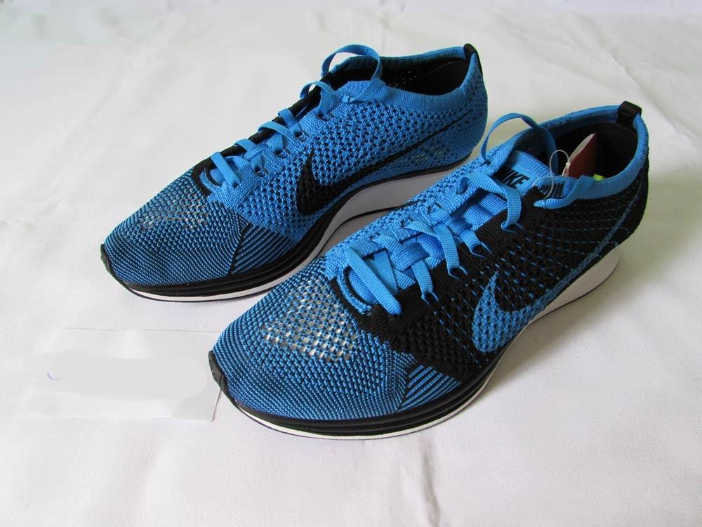 oficjalny sklep buty na tanie przed Sprzedaż Tenis Nike Flyknit Racer 42 Azul Preto Casual Corrida Yeezy