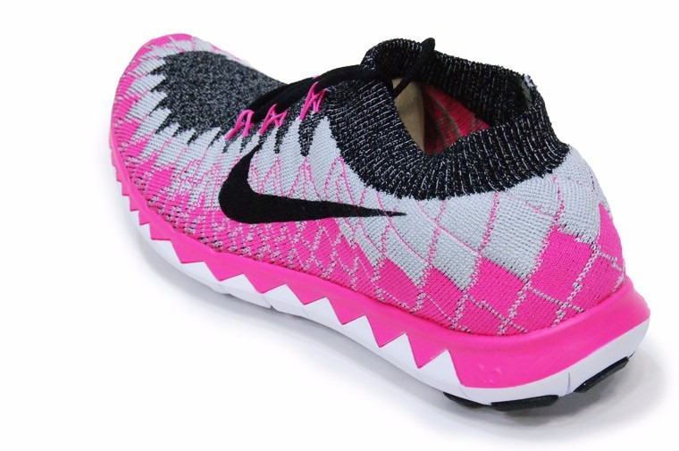 44ecb05f9cb48 Tenis Nike Free Flyknit 3.0 Feminino Original Rosa - V2mshop - R ...