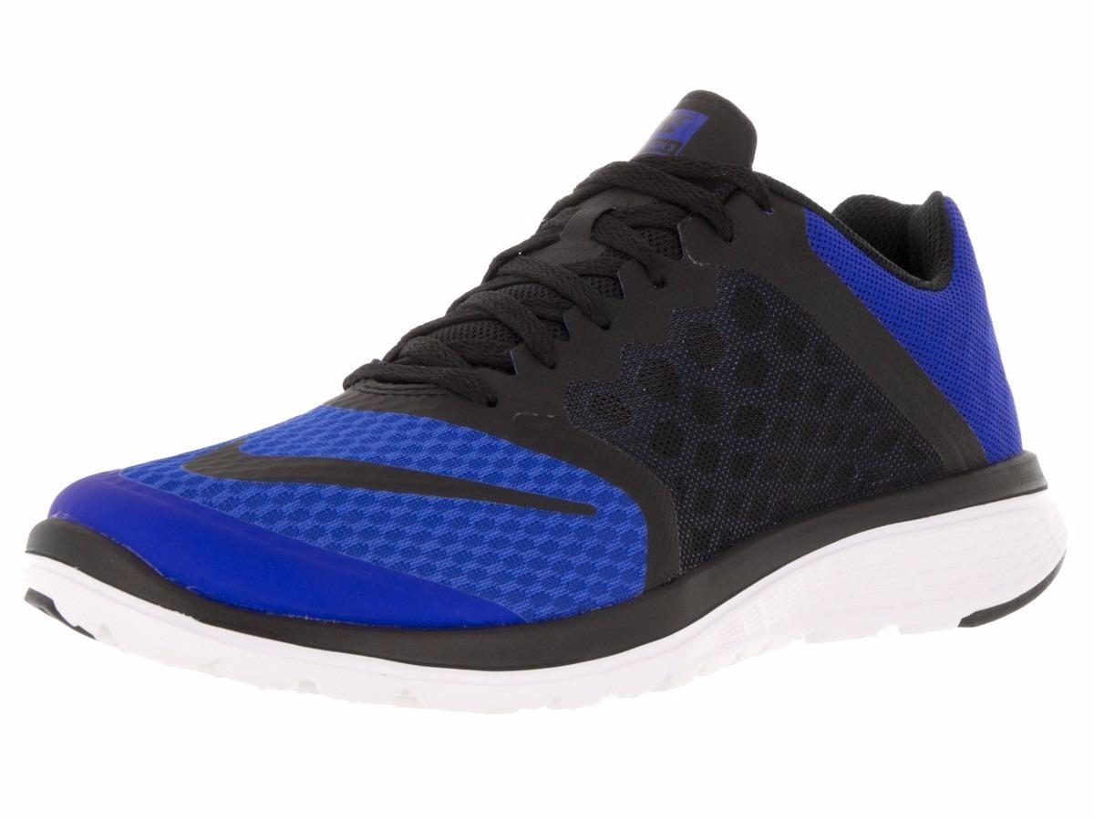 promo code 248c3 931d0 Nike Roshe Run Cuero zapatos training Mujer negro azul real royal wwPqQ,nike  zapatillas
