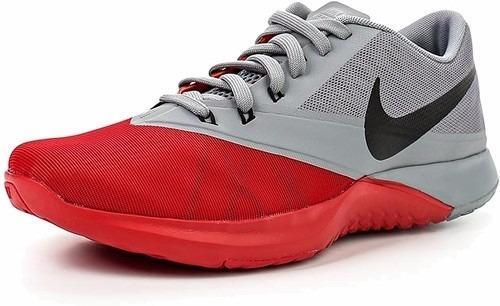 tennis nike gris con rojo