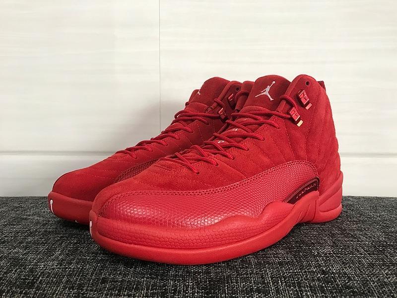 Tenis Nike Jordan 12 Red Suede 3en Mercado Libre