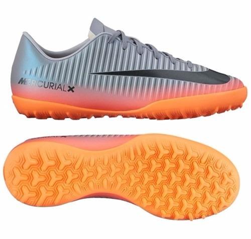 Tenis Nike Jr. Mercurialx Victory 6 Cr7 Tf Gris Naranja 2017 ... 1a4702eeb65ad