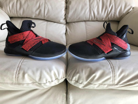 reputable site cd71d e28cd Tenis Nike Lebron James Soldier 12 Black Red 24.5mx Damaniño