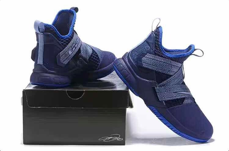 cheap for discount 6939a e3b25 Tenis Nike Lebron Soldier Xii Azul / Talla# 25 Y 27.5 Cm/ Mx