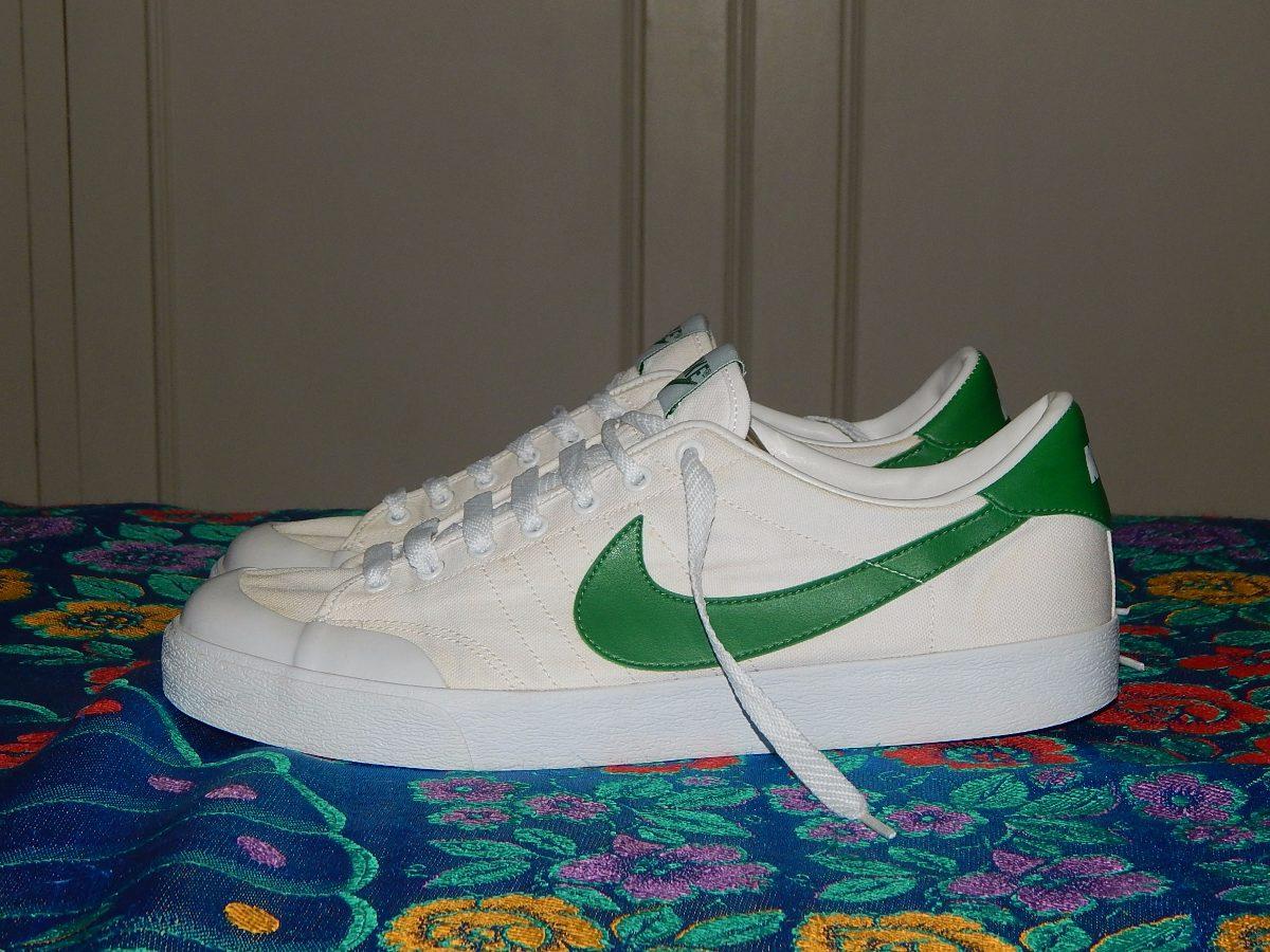 9f5898c3a17 tenis nike verde com branco