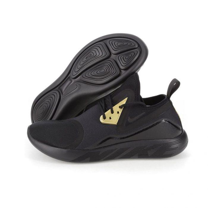 508b2195e434e Tenis Nike Lunarcharge Essential - Negro Dorado -   1