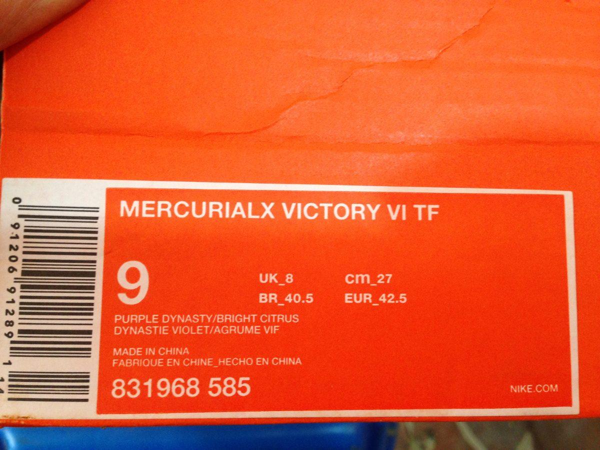 tenis nike mercurial victory cr7 100%original adulto morado. Cargando zoom. bd93aa1dbd67f