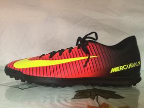 size 40 38457 7f4e7 Tacos Nike Mercurial Negros Con Naranja - Deportes y Fitness en Mercado  Libre México