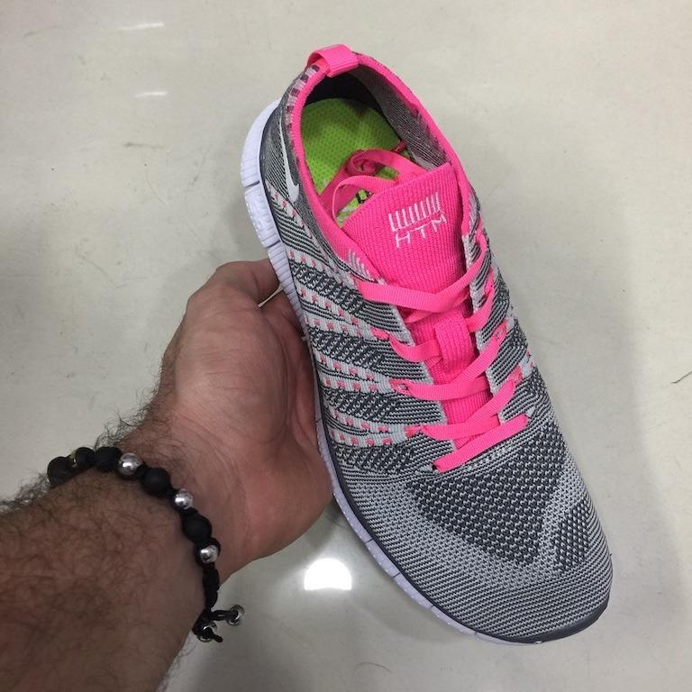 Tenis Zapatillas Nike Free Flyknit Gr Gris Fucsia Mujer Env Gr Flyknit bad8a2