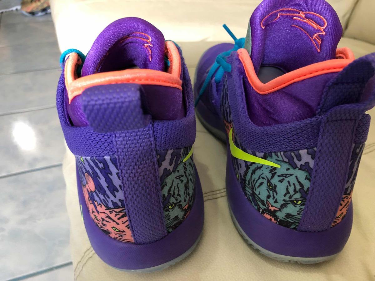 new concept 62a20 c381b Tenis Nike Paul George 2 Purple Volt Del 27mx 9us - $ 1,950.00