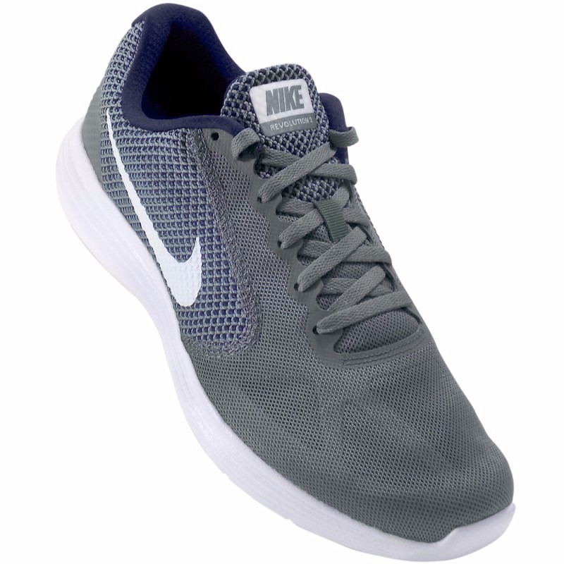 Tenis Nike Revolution 3 Correr Running Gris Caballero -   1 aa50026238bf3