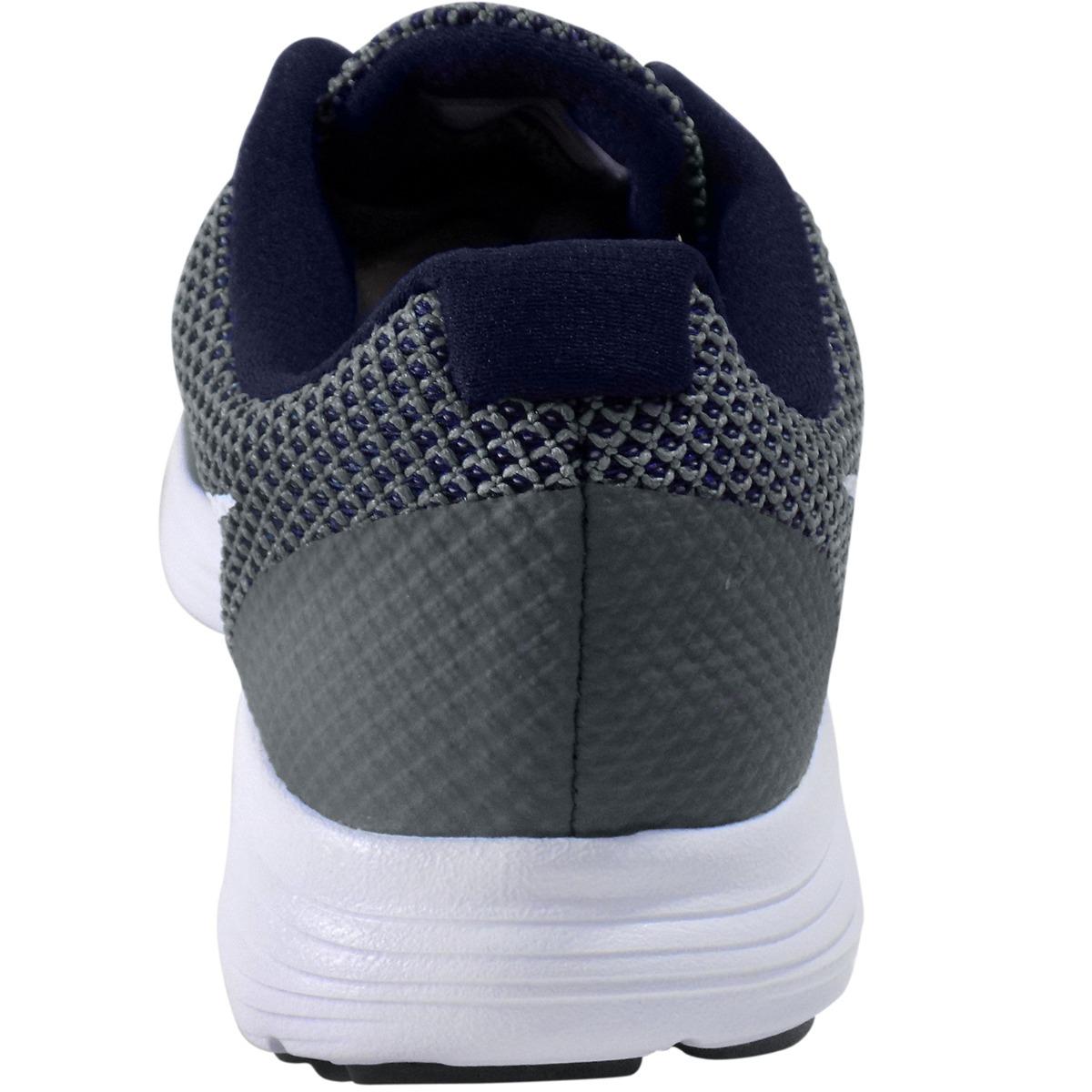 c7e5bc6e26cb5 tenis nike revolution 3 running para hombre gris azul marino. Cargando zoom.