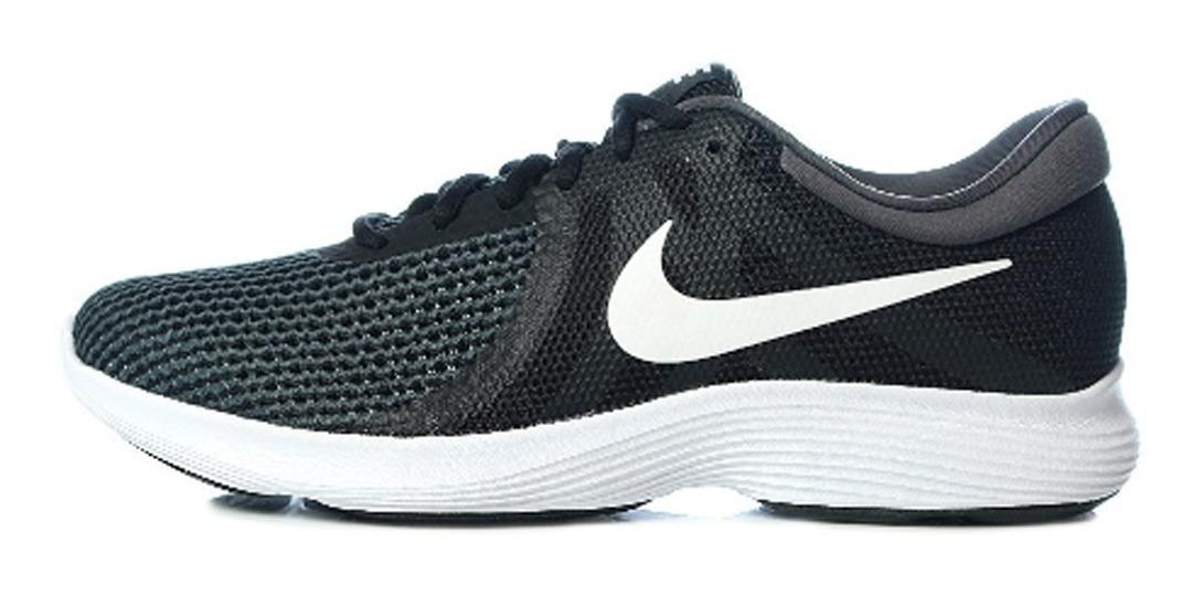 Tenis Nike Revolution 4 Negro Blanco Hombre 908988 001