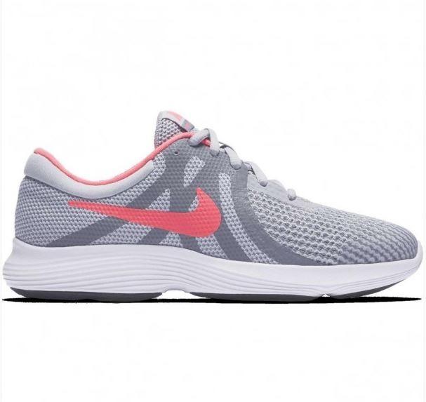 0047f0a999ef2 Tenis Nike Revolution 4 Niña Gris Rosa 943306-003 Original ...
