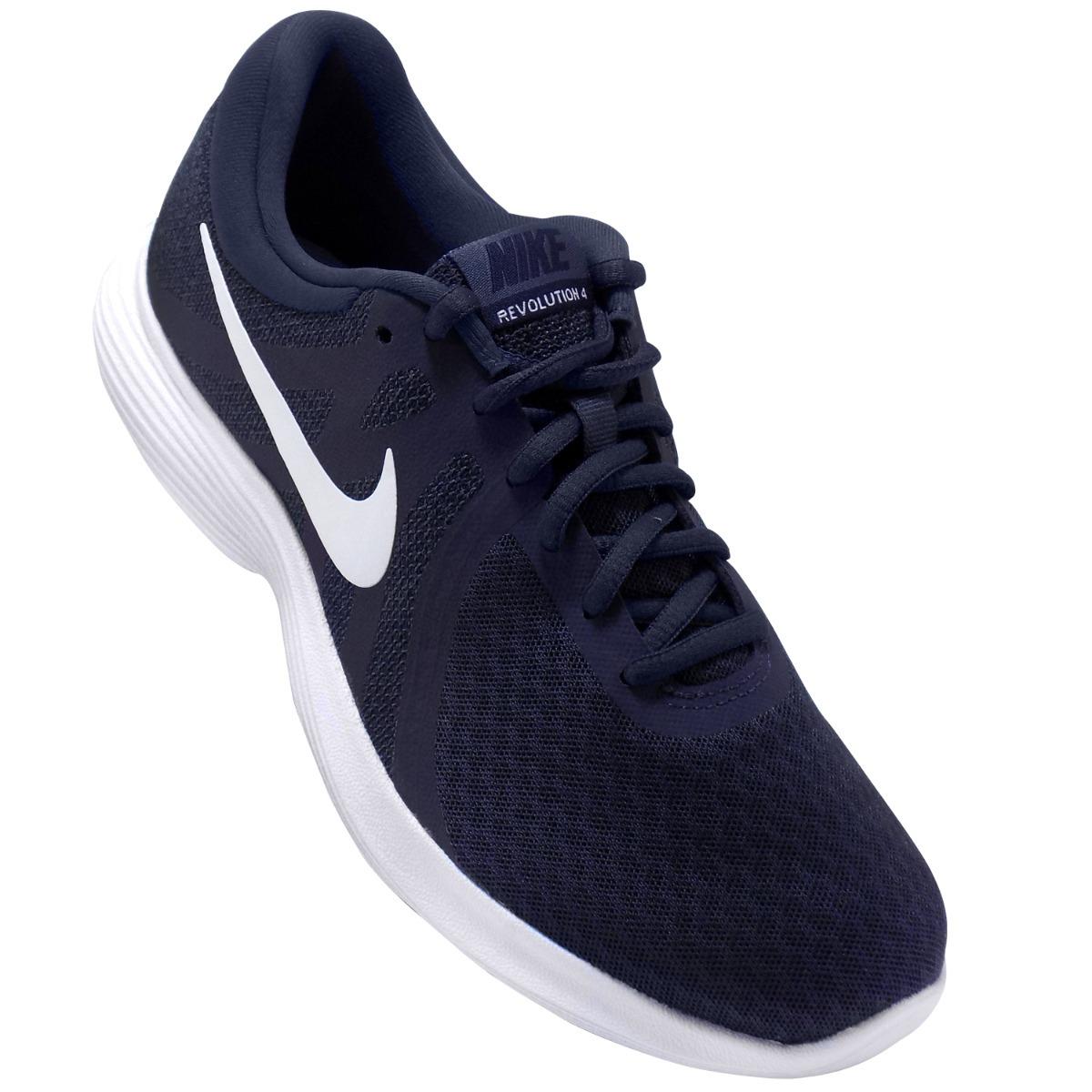 tenis nike revolution 4 running para hombre azul marino. Cargando zoom. 67a6487a379