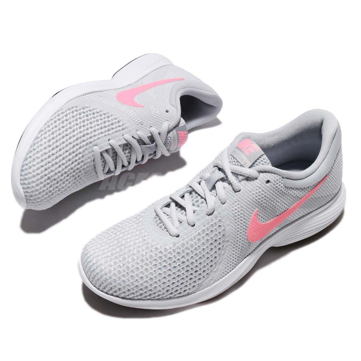 e8dcac5092f18 tenis nike revolution gris rosa mujer 100% 908999-016. Cargando zoom.