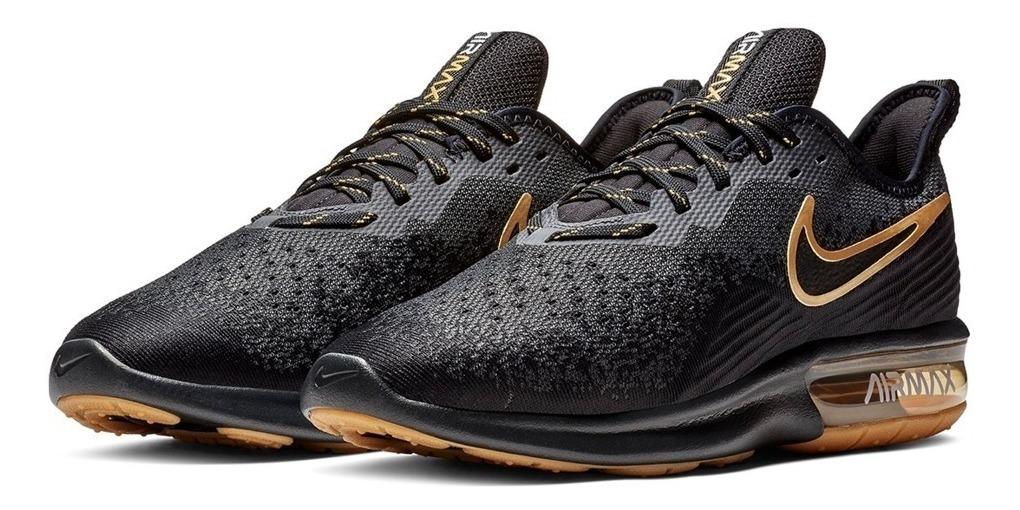 Hombre A Negro Meses 4 Nike Sequent Tenis Original Dorado lcK1TF5Ju3