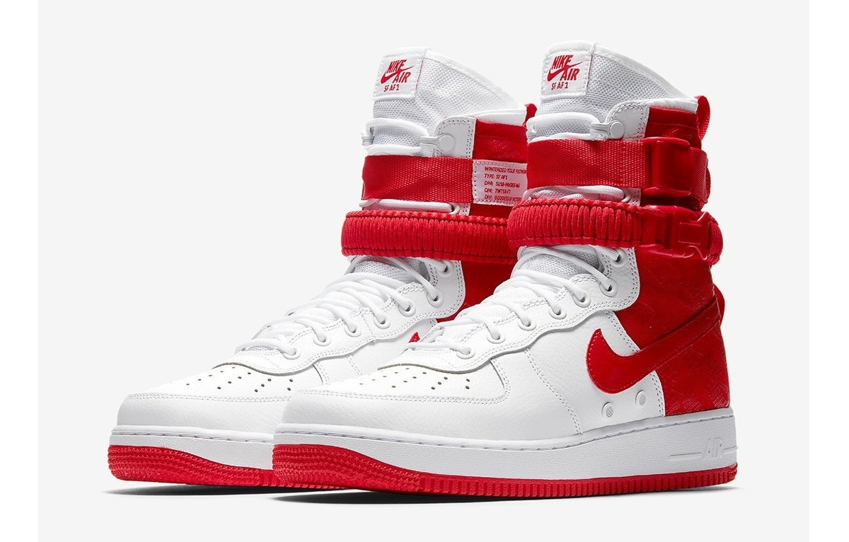 Tenis Sf 1 Red original Air University Force Nike High 100 VLSpUGzqM