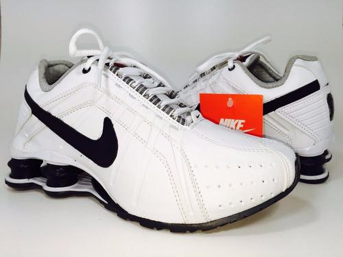 e1b0e64e97 Tenis Nike Shox Junior Masculino Original Azul Branco Preto - R  360 ...