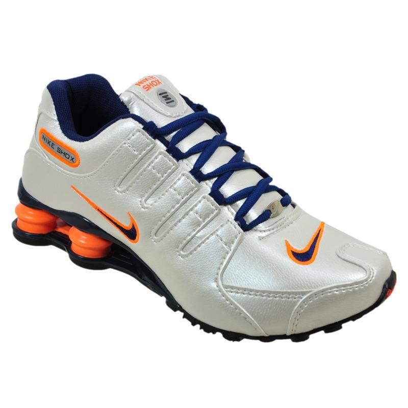 tenis nike shox nz branco azul e laranja nz feminino. Carregando zoom. 31f4b47f9380a