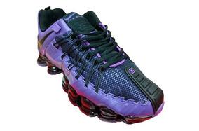 cd6ed83a12c Tenis Nike Shox Premium Roxo E Preto Nº37 Ao 43 Original · R  550