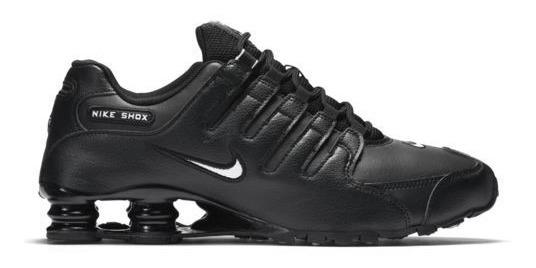 precio competitivo 1e46f f56f9 Tenis Nike Shox Running Nz Para Correr Hombre Negro / J