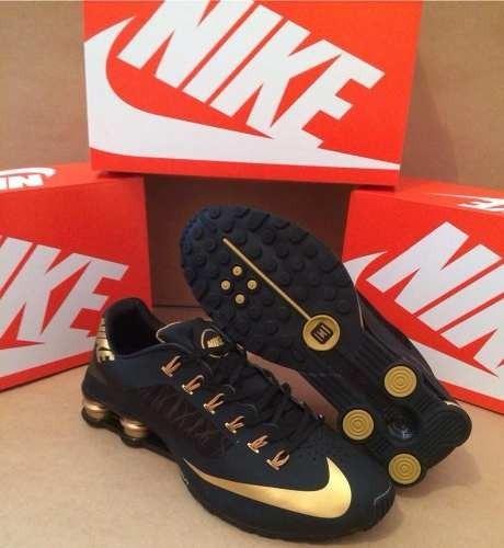 c50f1b25a66 Tenis Nike Shox Superfly Preto E Dourado Nº37 A 43 Original - R  550 ...