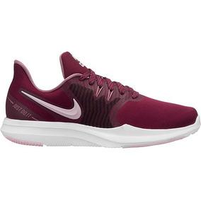 Tenis Nike Sneaker Season Flywire Mujer Tex Vino 34888 Dtt