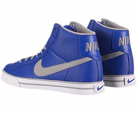 tenis nike azules de bota