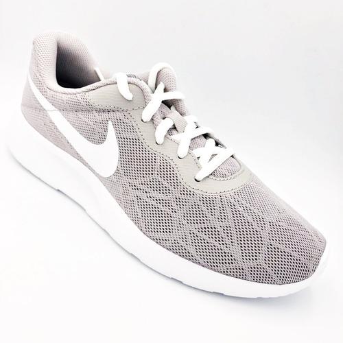 tenis nike tanjun gris dama 100%originales running