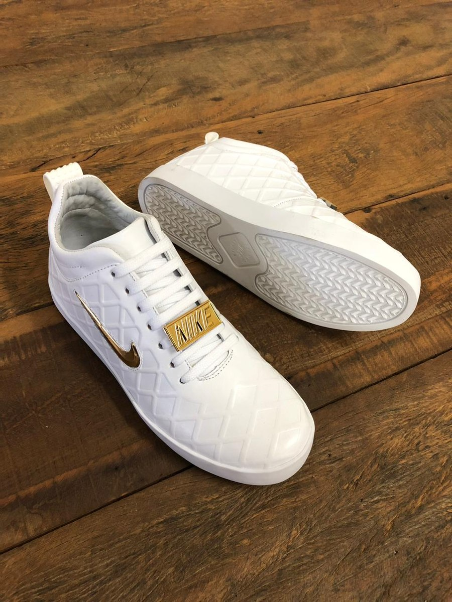 25b84a11749 Tenis Nike Tiempo Vetta Branco Masculino Couro