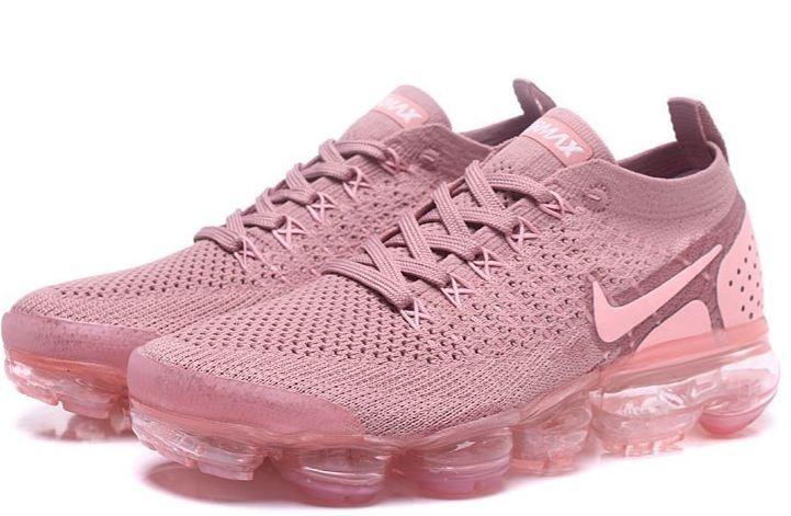 88edc753207 Tenis Nike Vapormax Flyknit 2 Rosa Air Gel Bolha Rose Mulher - R ...