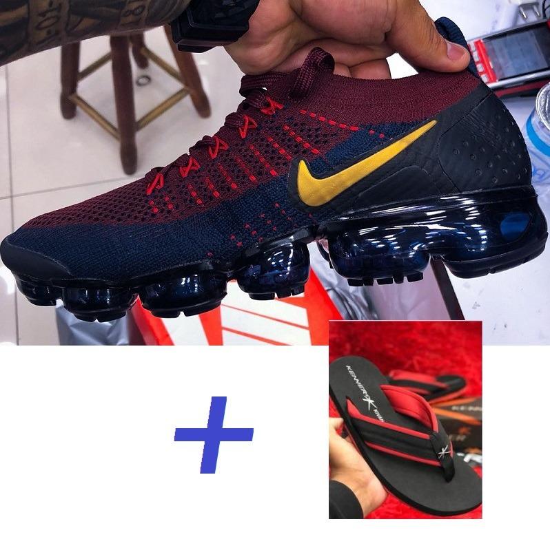 Tenis Nike Vapormax Off White Preto Branco + 3 Cadarço Lacre - R ... 7e90ab8395e55