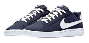 Tenis Nike Wmns Court Navy Tallas Del #23 Al #25 Mujer Ppk
