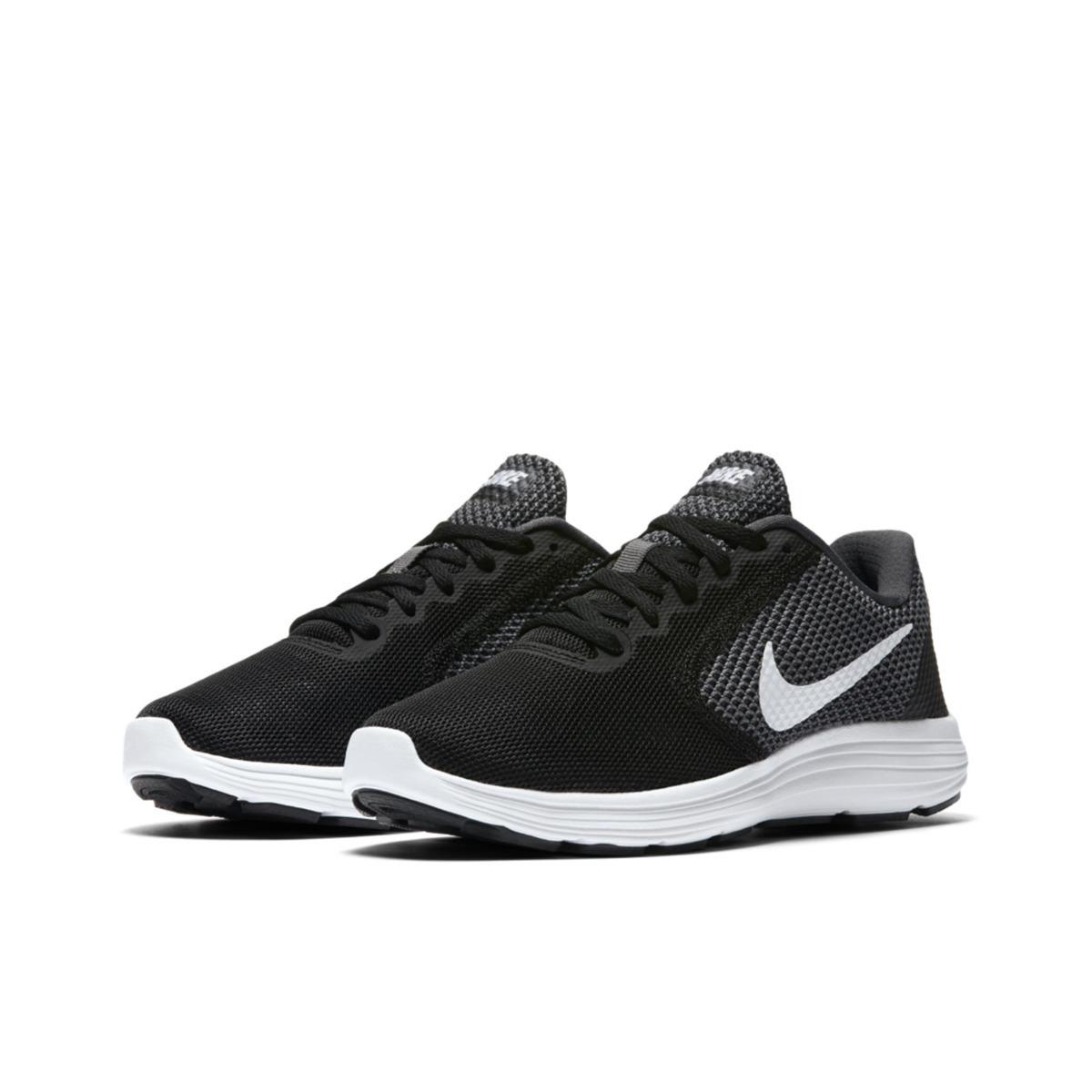 4e0aa7eb7d1 Tenis Nike Wmns Revolution 3 Cor 17 Preto E Branco Feminino - R  235 ...