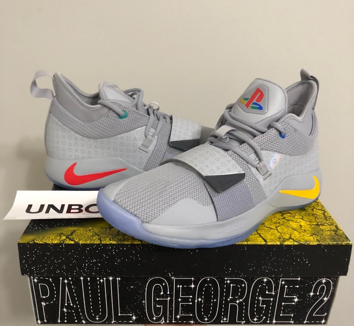 100% authentic 0a395 8cba8 Tenis Nike X Playstation Paul George 2.5 Wolf Grey