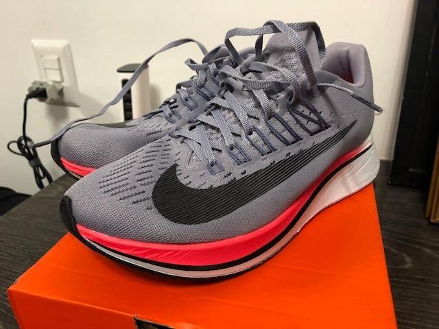 Tenis Nike Zoom Fly Feminino Cinza-rosa Tam 37 Usado 2 X 5km - R ... d4a4f03182373