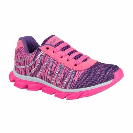 tenis niña rosa correr