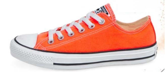 tenis converse naranjas