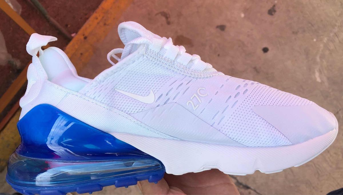 nuevo producto fe7f1 b3b47 Tenis Nuevo Nike Air Max 270 Blanco Válvula Azul