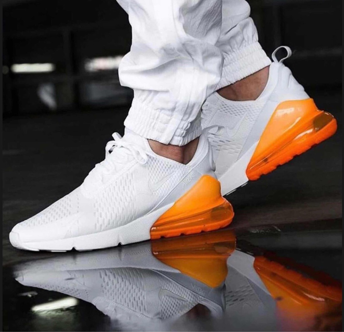 Outlet Nike Air Max 270 Blanco Total Naranja BHHLUMRRR