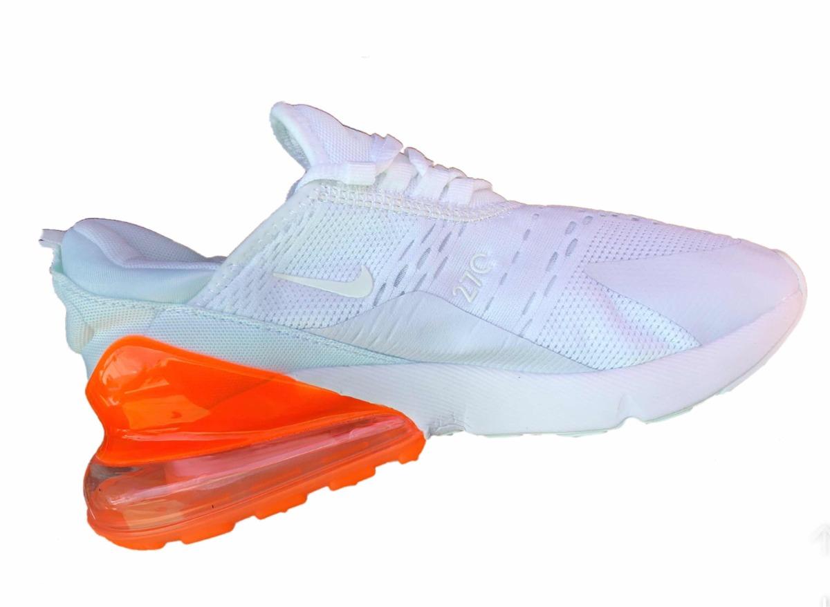 c1a7411c4db59 tenis oferta nike air max 270 blanco válvula naranja. Cargando zoom.