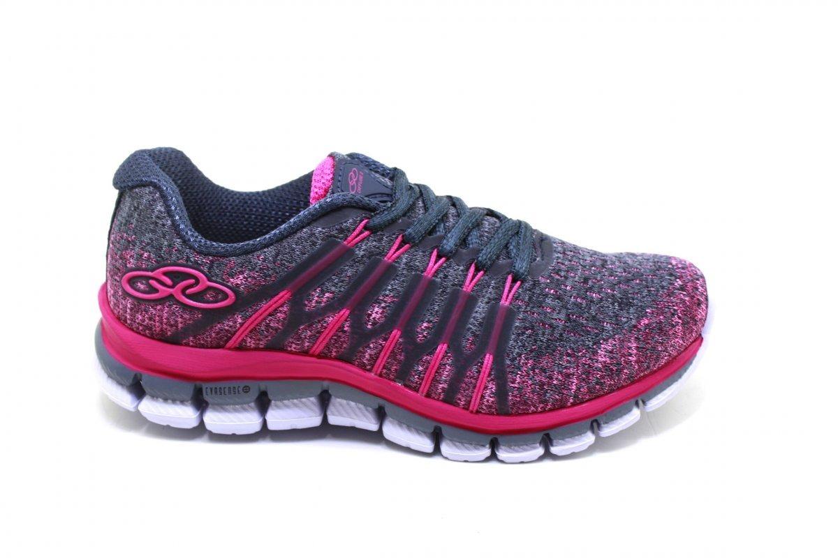 856d4cea2a3 Tenis Olympikus Difuse Kids 468 Cinza pink - R  189