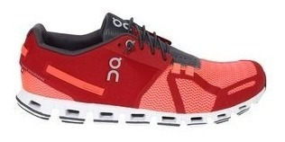 tenis on cloud red/flash hombre correr triatlon
