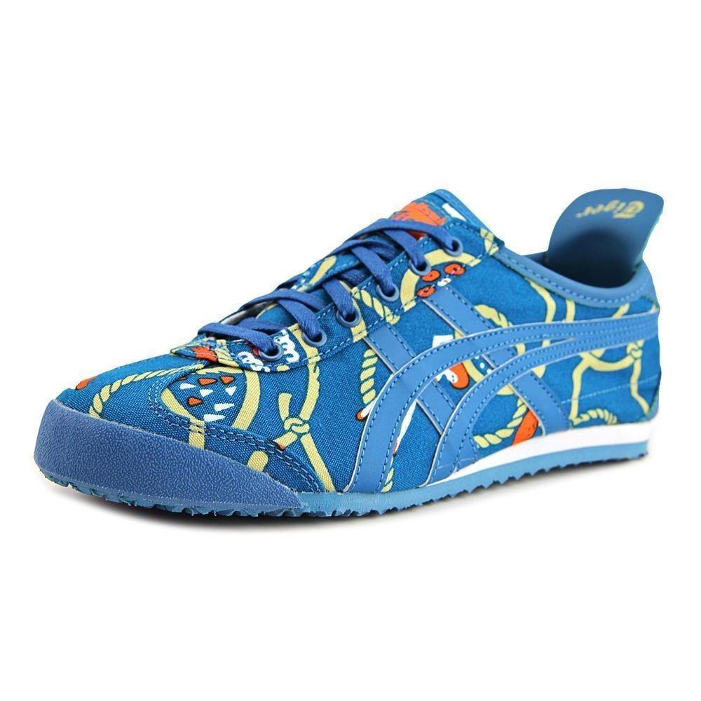 asics tiger azules