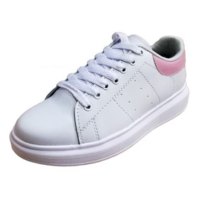 Tenis Outfit Love Me Para Mujer Blanco Y Rosa